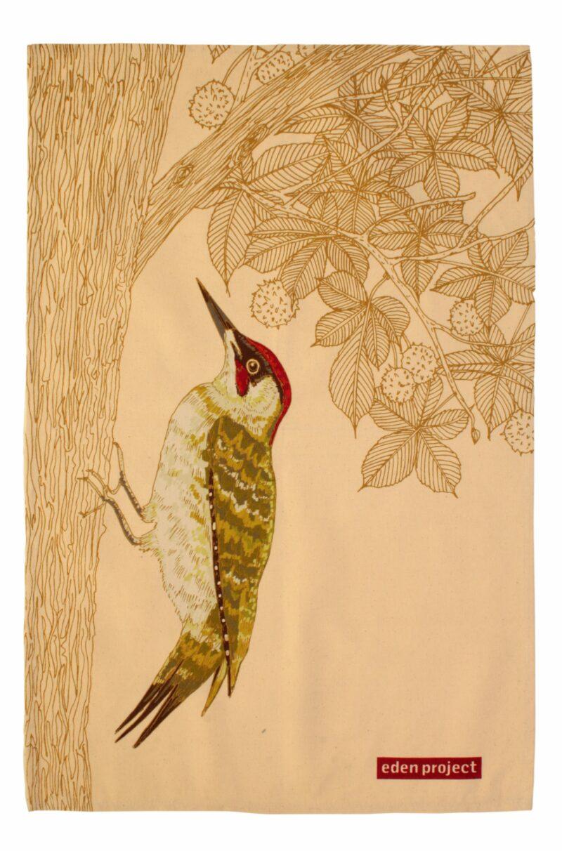 UW Green Woodpecker Tea Towel