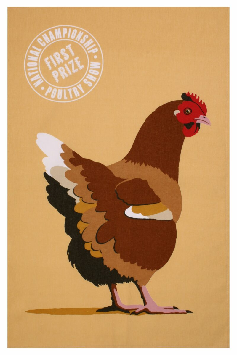 UW Penny Chicken Tea Towel