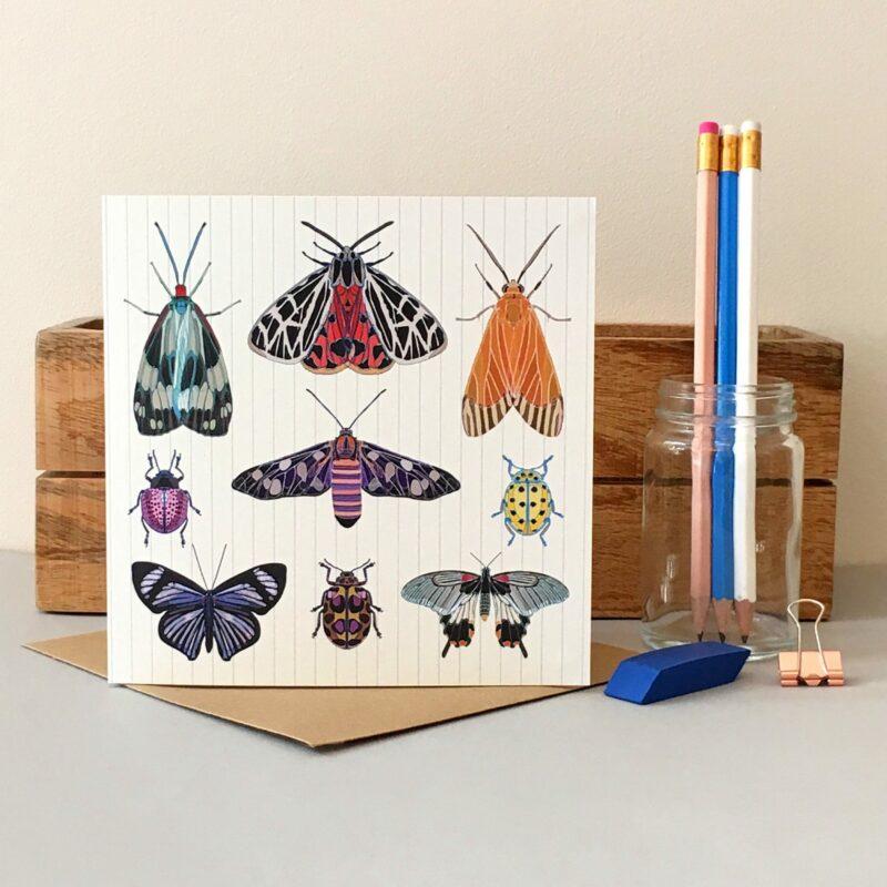 GCL034 - Moths and Butterflies card