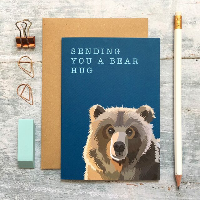 GCW009 - Bear Hug greetings card