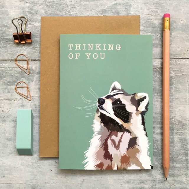 GCW010 - Raccoon Thinking of You card
