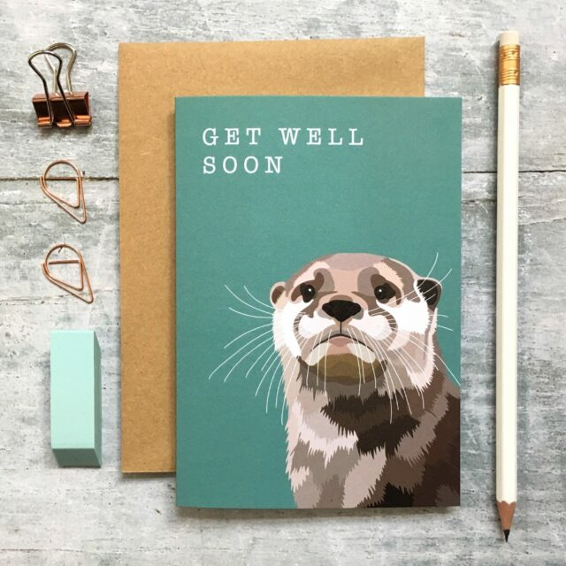GCW011 - Otter Get Well Soon card