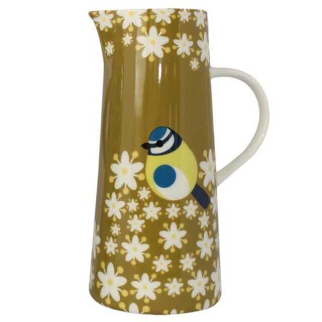 Blue Tit Tall Jug