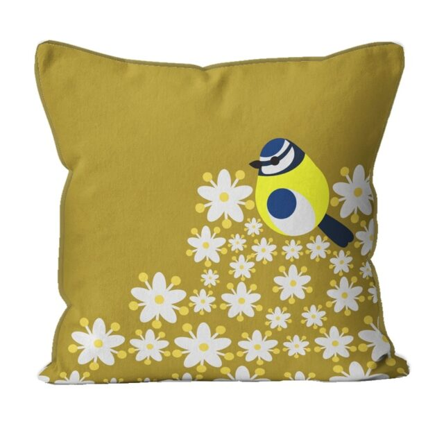 i like birds BLUE TIT CUSHION 294790C