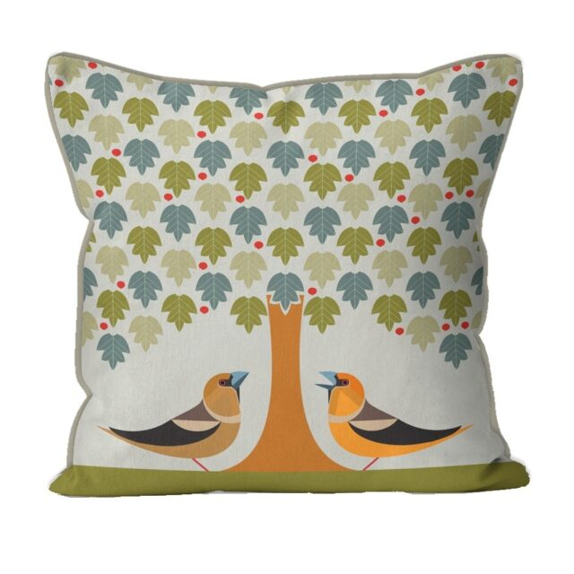 i like birds HAWFINCH CUSHION 294791V