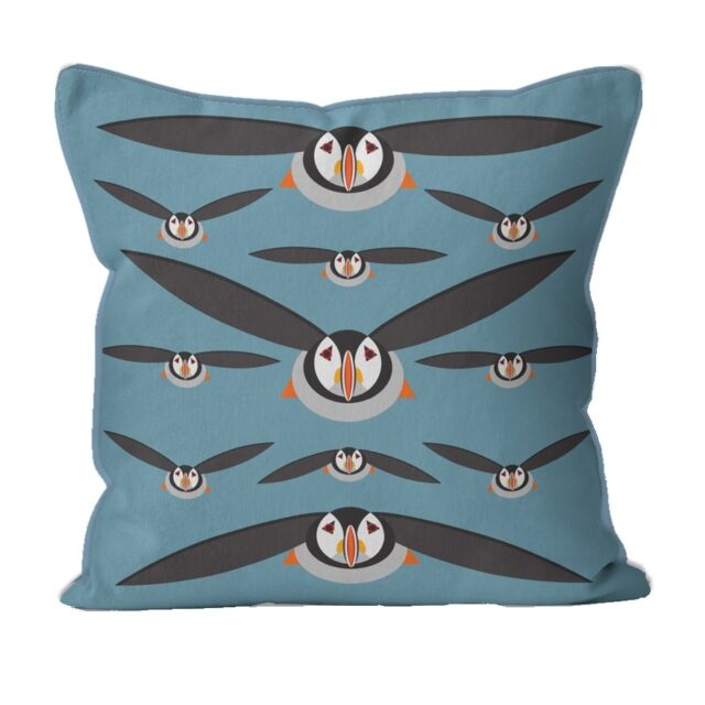 i like birds PUFFIN CUSHION 2947935