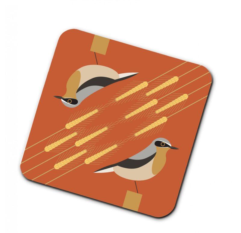 295162U i like birds 4 pack coasters WHEATEAR