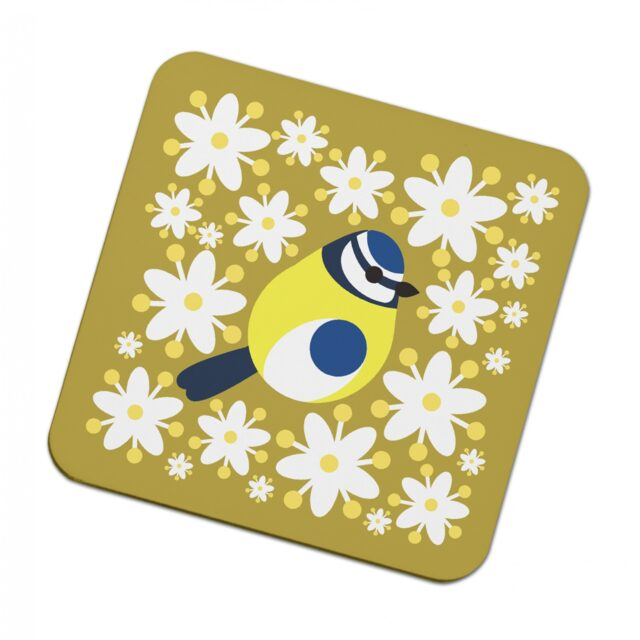 302934E i like birds 4 pack coasters Blue Tit