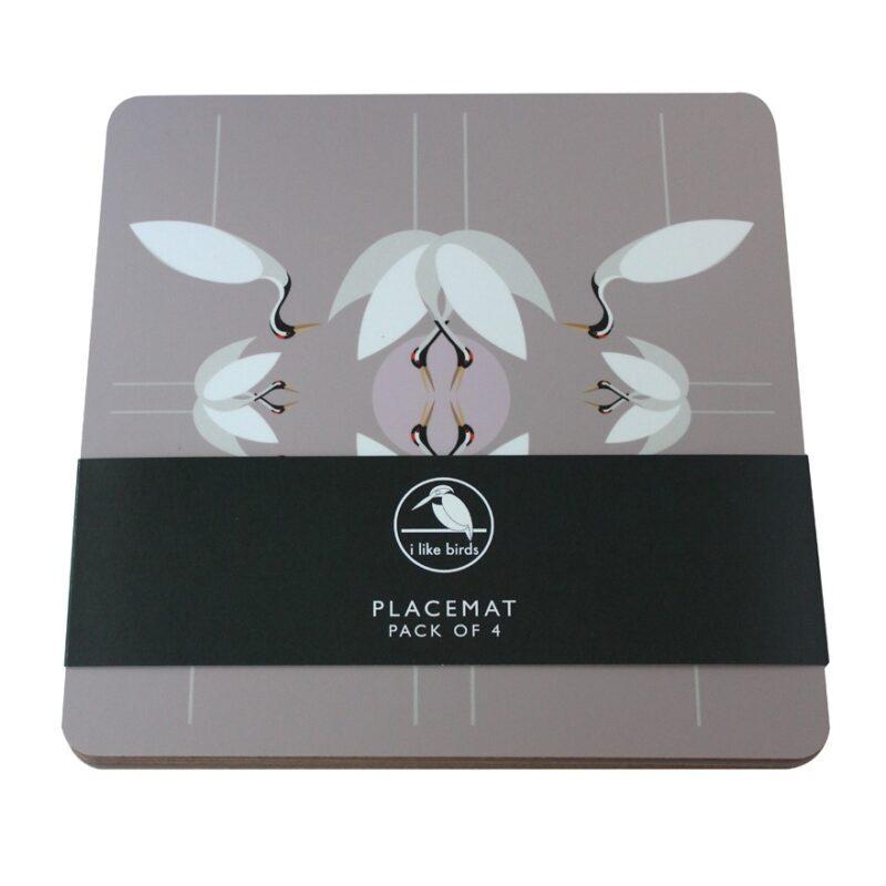 Cranes placemats 4 pack