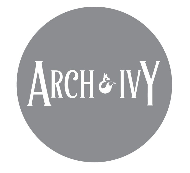 arch and ivy logo on grey background