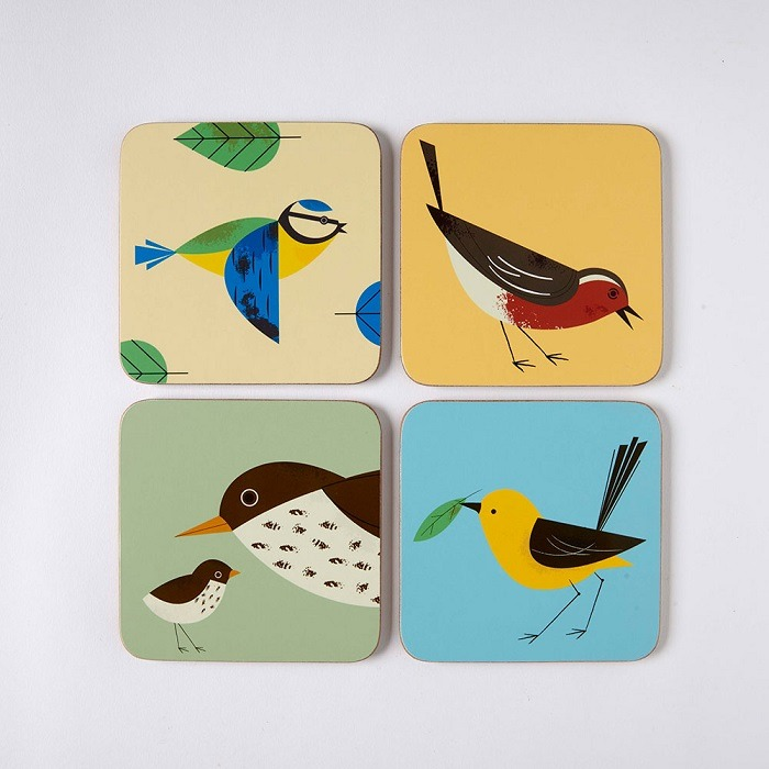 birdy coasters by magpie