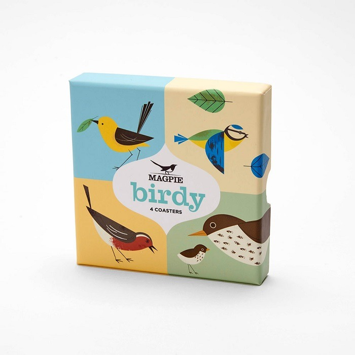 birdy coasters in gift box