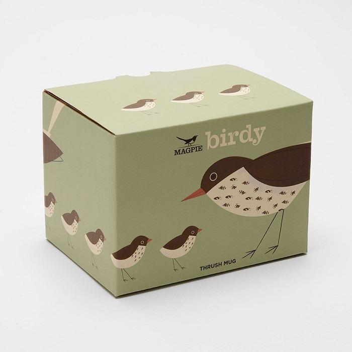 thrush mug birdy collection box