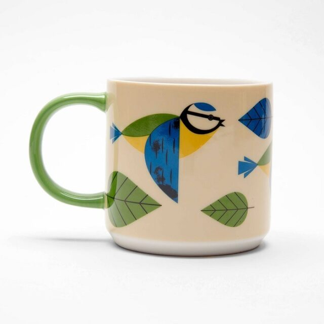 blue tit mug birdy collection by magpie