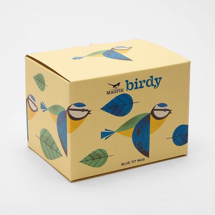 blue tit birdy collection mug in box